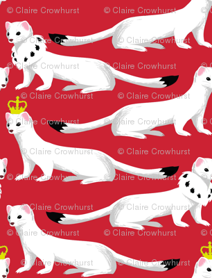 Ermines on Red