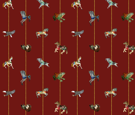 Carousel fabric by katsanders on Spoonflower - custom fabric
