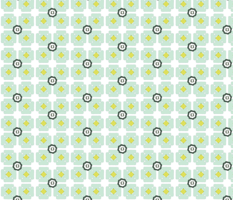 unfolded square blue fabric by gretchenmist on Spoonflower - custom fabric