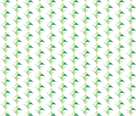 unfolded diamond greens fabric by gretchenmist on Spoonflower - custom fabric