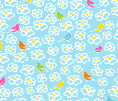 white flower small ver. fabric by jshin on Spoonflower - custom fabric
