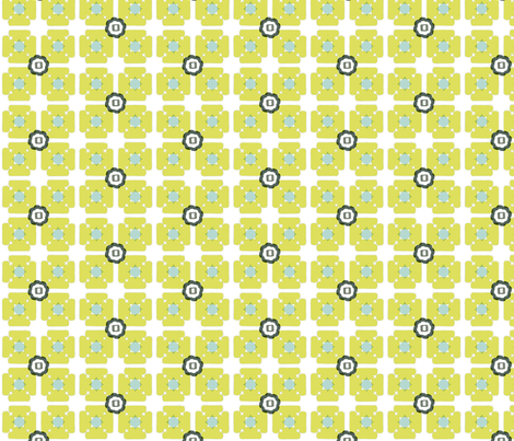 unfolded square lime fabric by gretchenmist on Spoonflower - custom fabric