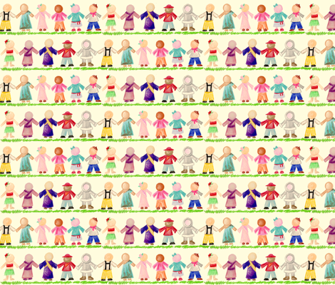 Crayon International Children - Mini-Print fabric by amy_lou_who on Spoonflower - custom fabric