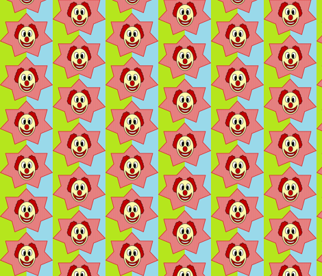 clown fabric by aprilbales on Spoonflower - custom fabric