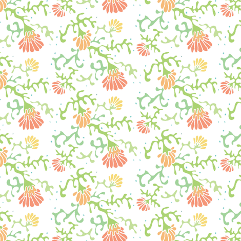 seaflowers fabric by atomic_bloom on Spoonflower - custom fabric