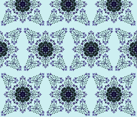 Currants purple fabric by atomic_bloom on Spoonflower - custom fabric