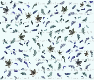 Feather & Sparrow in Blue