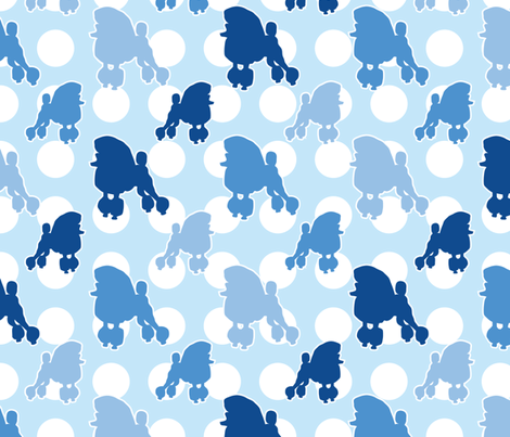 Blue Poodle Polka Dot fabric by robyriker on Spoonflower - custom fabric