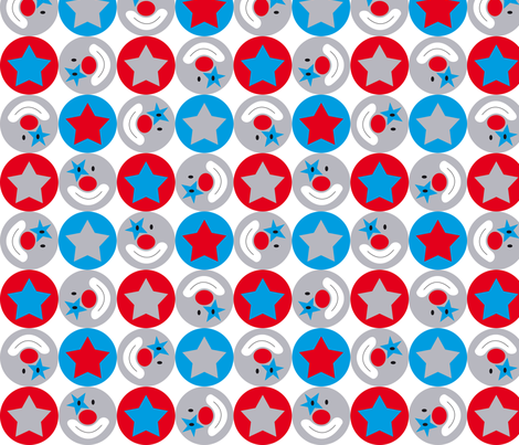 circus circles fabric by tante_lein on Spoonflower - custom fabric