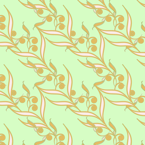 Golden Bamboo fabric by joanmclemore on Spoonflower - custom fabric