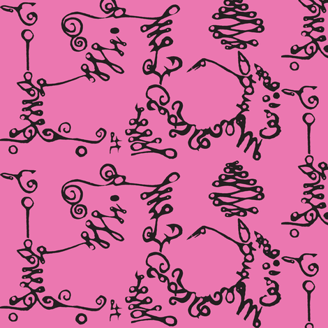 Calligraphic Road Trip fabric by boris_thumbkin on Spoonflower - custom fabric