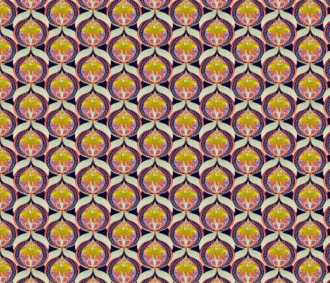 ©2011 Lily and Pomegranate fabric by glimmericks on Spoonflower - custom fabric
