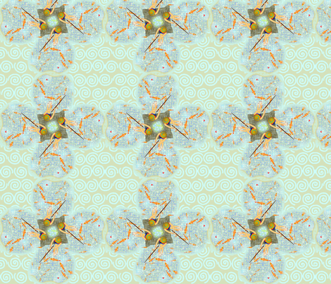 ©2011 quatrafoilrfishingperson fabric by glimmericks on Spoonflower - custom fabric