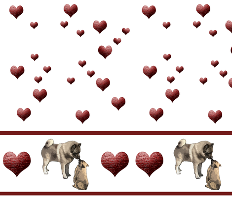 Norwegian Elkhound Hearts fabric by dogdaze_ on Spoonflower - custom fabric