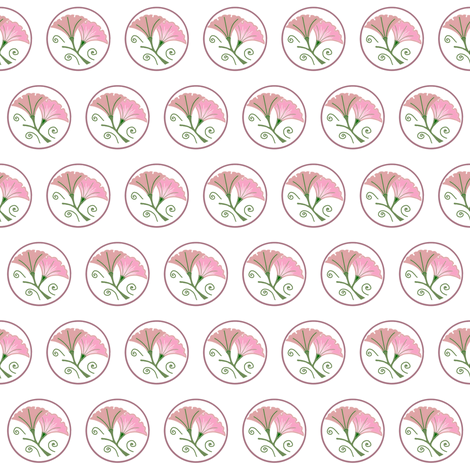 Morning glories on white fabric by su_g on Spoonflower - custom fabric