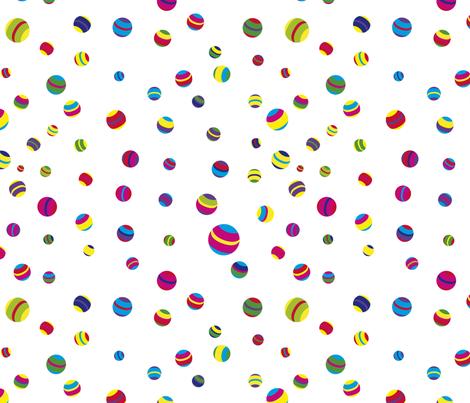 Circus balls tuttifrutti fabric by sol on Spoonflower - custom fabric