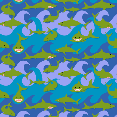 Toothsome!  fabric by vo_aka_virginiao on Spoonflower - custom fabric