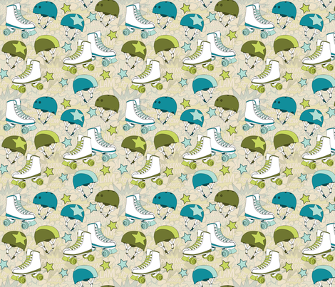 Roller Derby Half Size fabric by wildnotions on Spoonflower - custom fabric