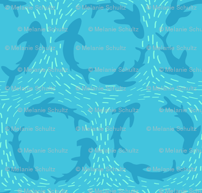 Sharks Circling in blue