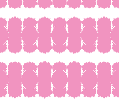 Circus dancer pink-white-ch fabric by miss_blümchen on Spoonflower - custom fabric
