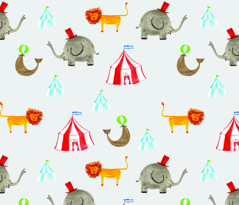 circus_fabric fabric by miauswimwear on Spoonflower - custom fabric