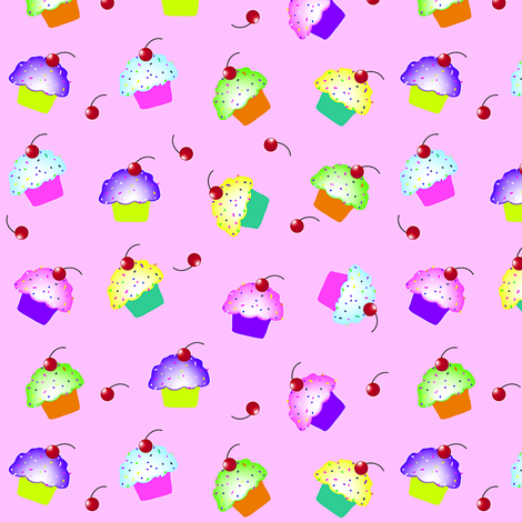 Cupcakes fabric by donnamarie on Spoonflower - custom fabric