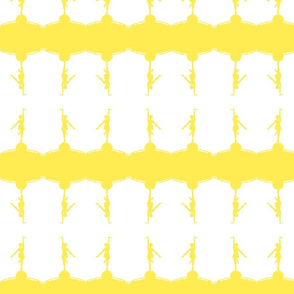 Circus dancer white yellow