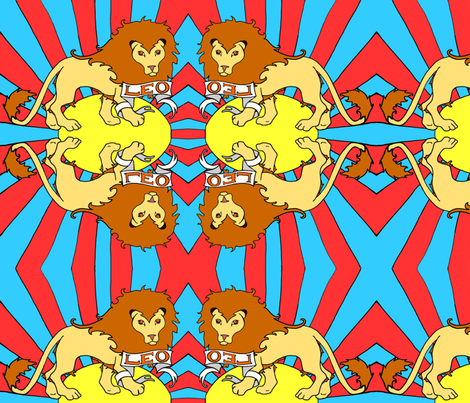 Psychedelic Leo Lion fabric by beesocks on Spoonflower - custom fabric