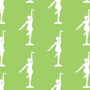 Circus dancer green-white allover