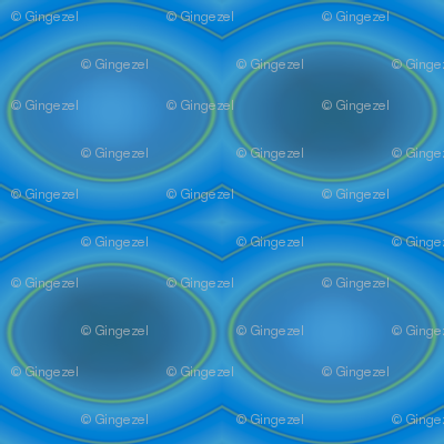 Blue Green Ovals © Gingezel™ 2011