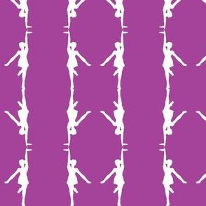 Circus dancer lilac-white small stripes