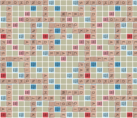 Word Game Solid Print fabric by seidabacon on Spoonflower - custom fabric