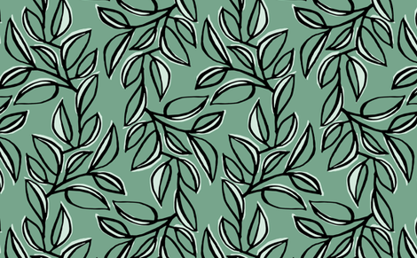 leaves 2 fabric by monmeehan on Spoonflower - custom fabric