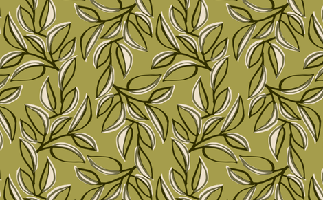 leaves 4 fabric by monmeehan on Spoonflower - custom fabric