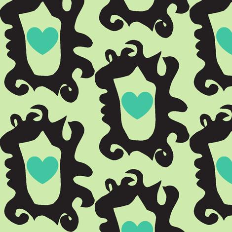 Mirror,Mirror,Show Me My Jealous Heart fabric by boris_thumbkin on Spoonflower - custom fabric