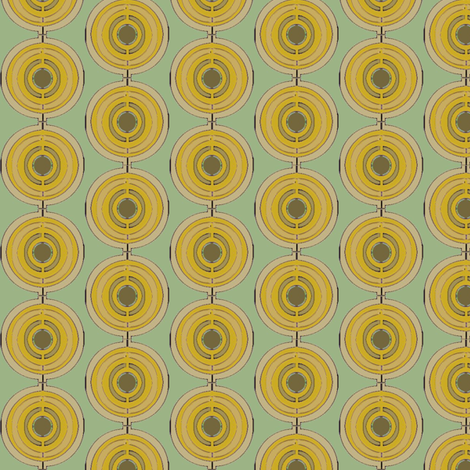 Algal_Circle_Orange fabric by david_kent_collections on Spoonflower - custom fabric