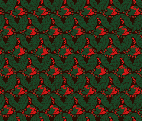 Cup of coffee? fabric by zandloopster on Spoonflower - custom fabric