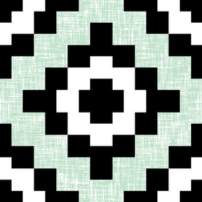 (100% BIGGER) Pale green mint weave West by Southwest by Su_G