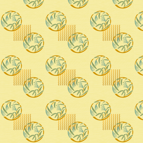 Bamboo grass on sand fabric by su_g on Spoonflower - custom fabric