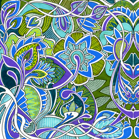 It's a Jungle Out There, color A fabric by edsel2084 on Spoonflower - custom fabric