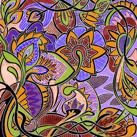 It's a Jungle Out There, color D (in negative) fabric by edsel2084 on Spoonflower - custom fabric