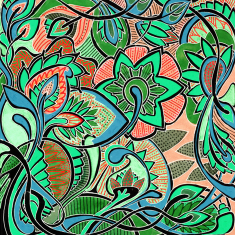 It's a Jungle Out There, color E (in negative) fabric by edsel2084 on Spoonflower - custom fabric