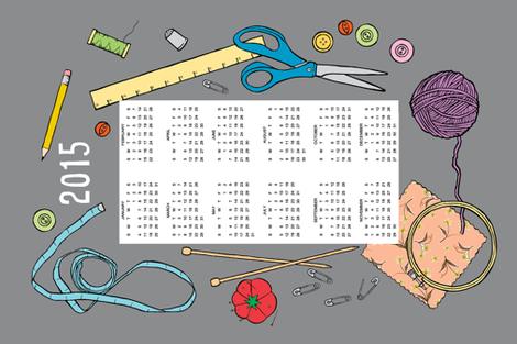 2015 crafty tea towel calendar