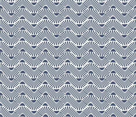 Japanese Waves fabric by demigoutte on Spoonflower - custom fabric