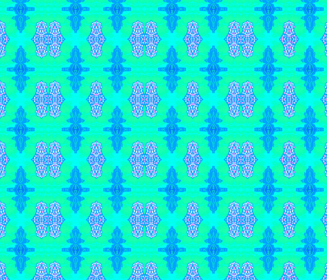 Formal Blue-Green Abstract fabric by robin_rice on Spoonflower - custom fabric