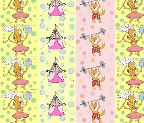 Foxie's Circus fabric by mummushka on Spoonflower - custom fabric