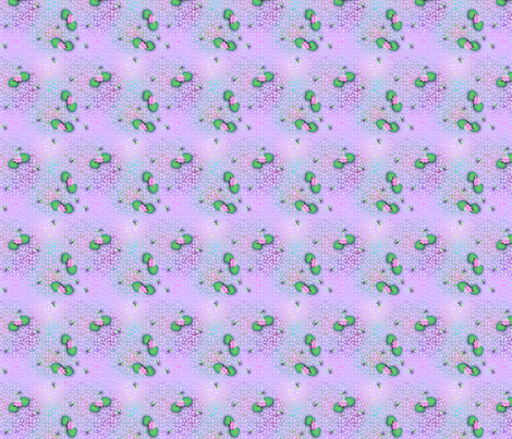 ©2011 Buzzin' 'Round the Lilypond fabric by glimmericks on Spoonflower - custom fabric