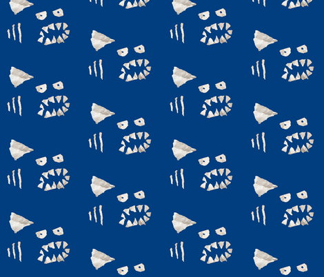 paper shark fabric by yonyon on Spoonflower - custom fabric