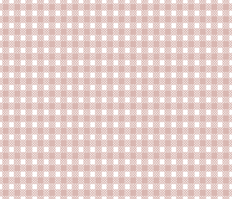 Gingham Grande - Dusty Pink fabric by kristopherk on Spoonflower - custom fabric
