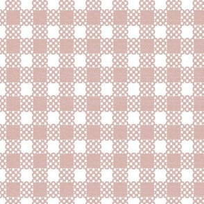 Gingham Grande - Dusty Pink
